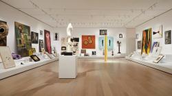"""Artist's Choice: Amy Sillman—The Shape of Shape,"" part of the renovation and expansion effort at MoMA in New York."