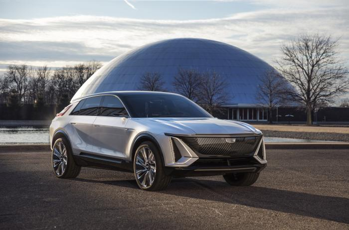 This photo provided by General Motors shows the Cadillac Lyriq