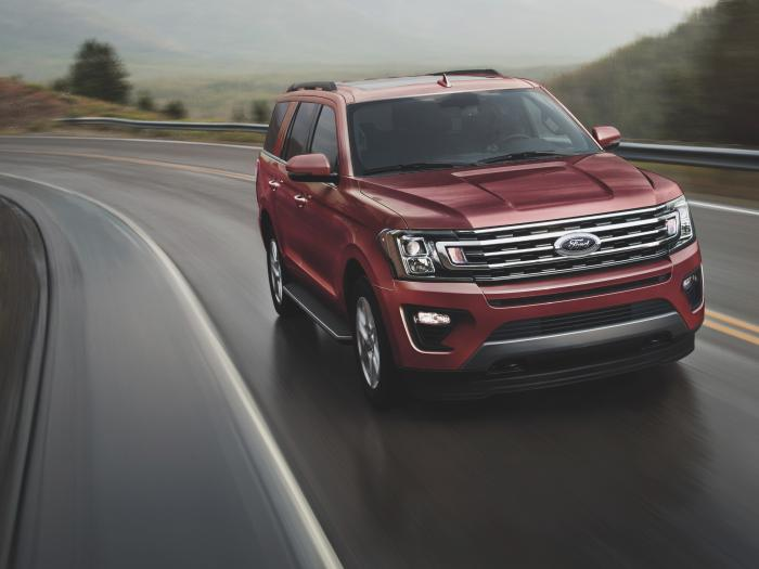 This photo provided by Ford shows the 2021 Expedition, which includes impressive towing capabilities and an extensive suite of advanced safety features