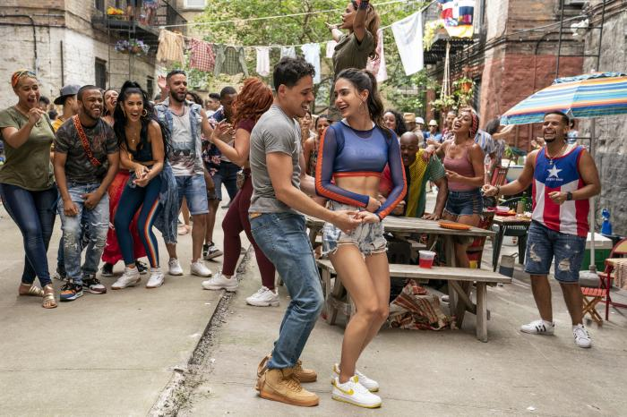 "A scene from the upcoming film ""In the Heights."""