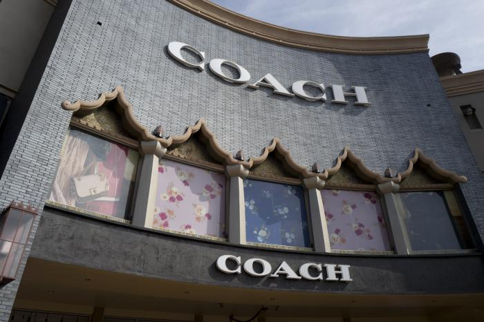 A Coach retail shop at the Citadel Outlets in Commerce, Calif.