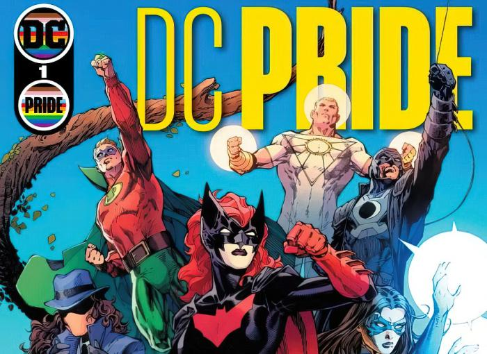 The cover art of the DC Pride issue