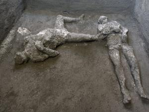 Bodies of Man and His Male Slave Unearthed from Ashes at Pompeii